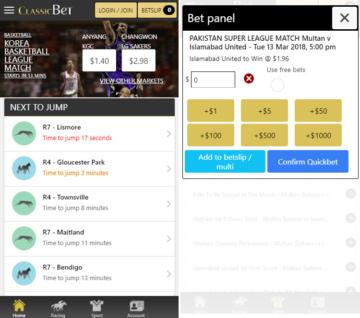 Classicbet Mobile App