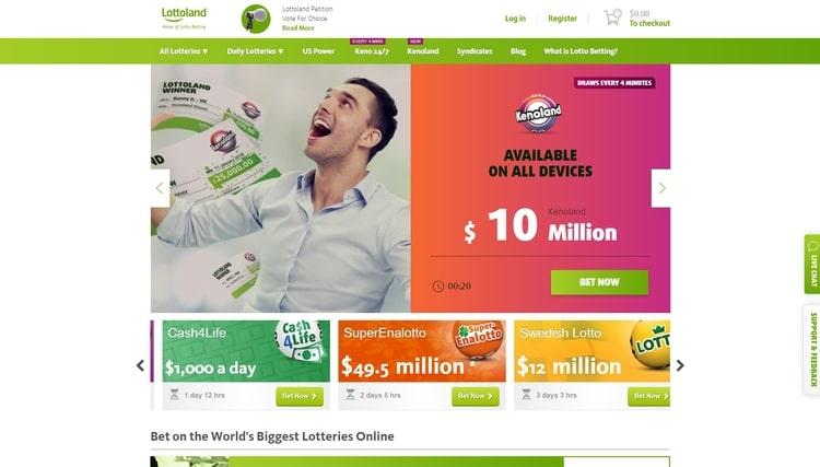 lottoland australia landing page screenshot