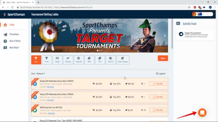 how to use live chat at sportchamps