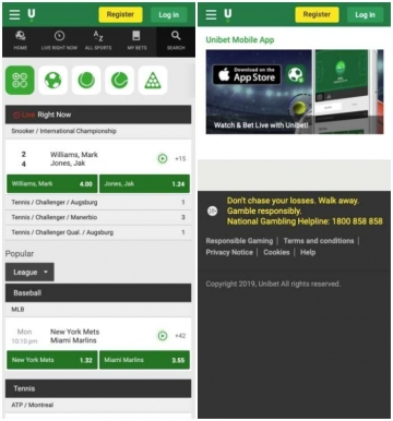 unibet live streaming mobile