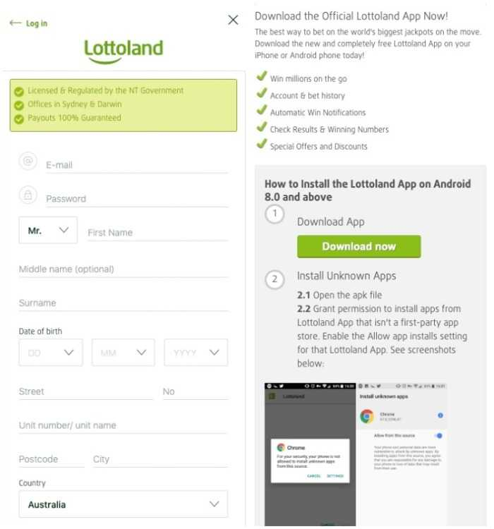 lottoland mobile login