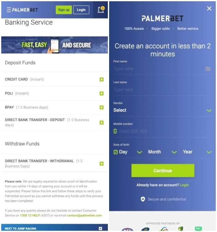 palmerbet app registration