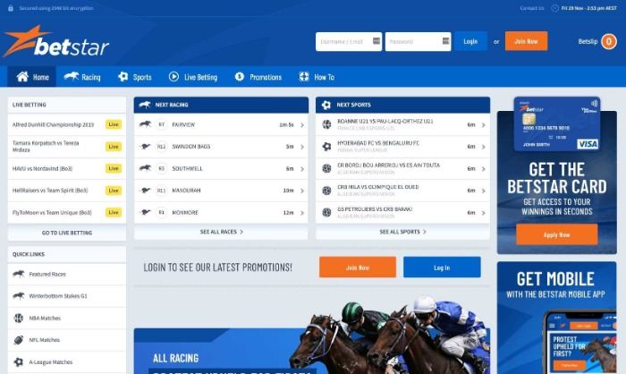 betstar home page