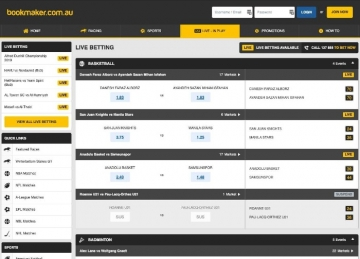 bookmaker live betting