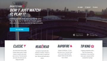 draftstars.com.au homepage