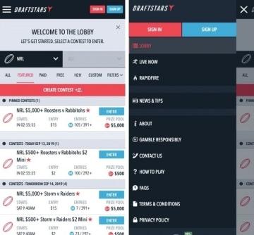 draftstars.com.au mobile app