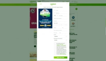 lottoland sign up form