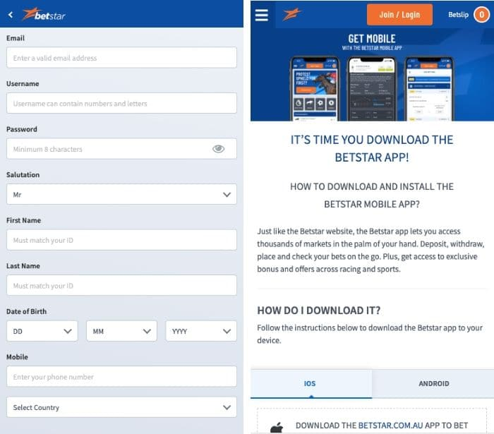 betstar app download
