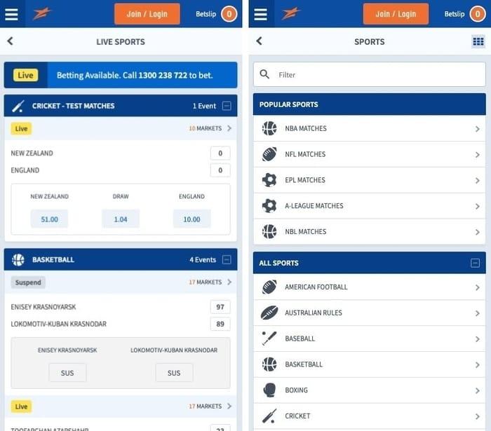 betstar mobile app sportsbook