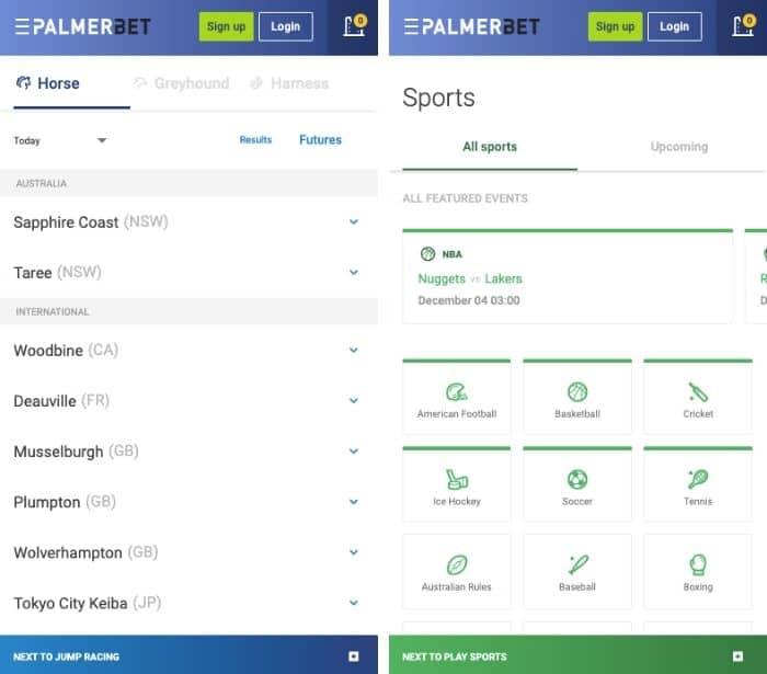 palmerbet mobile sportsbook