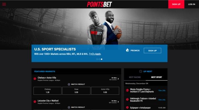 pointsbet homepage