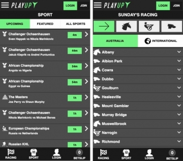 playup mobile betting