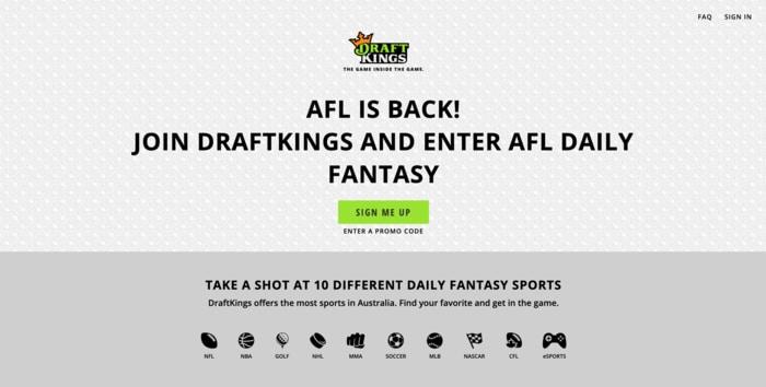 draftkings homepage