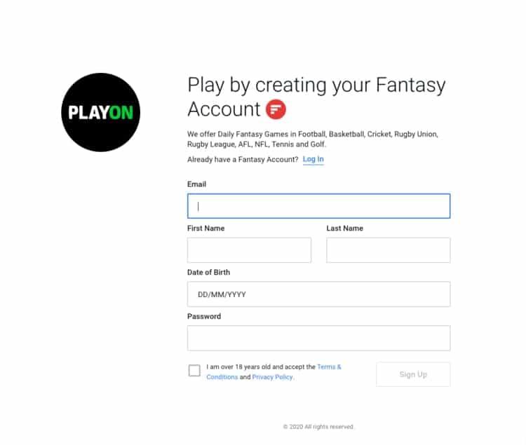 playup sign up