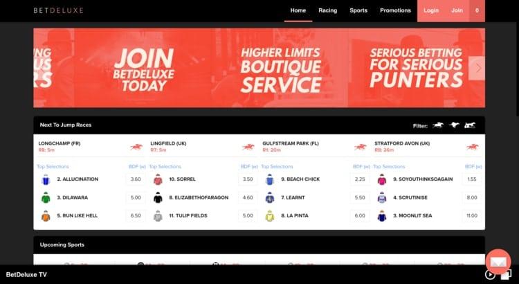 betdeluxe homepage