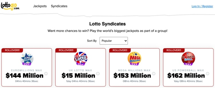 lottogo syndicates
