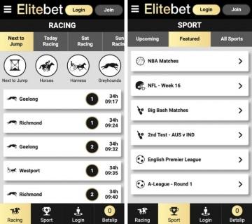 elitebet app betting offer