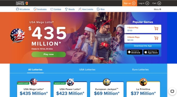the lottery office homepage