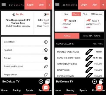 betdeluxe app betting offering