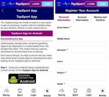 topsport app sign in