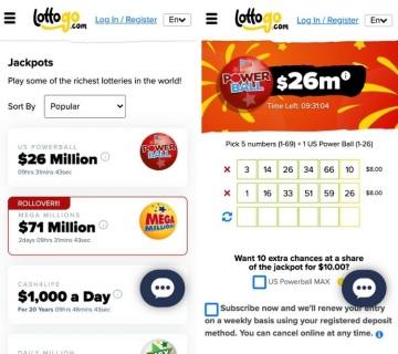 lottogo app lotteries