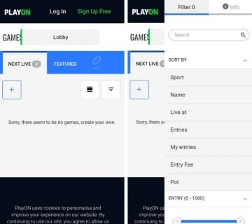the playon app lobby