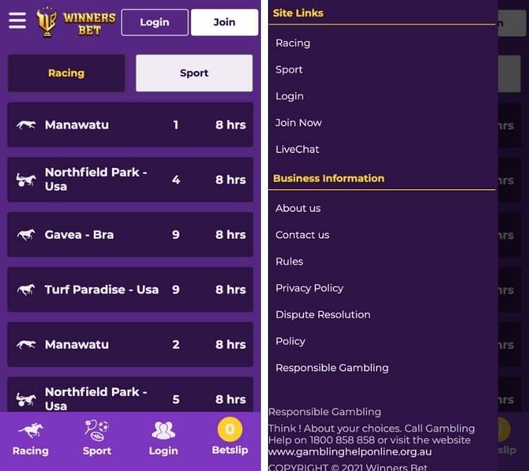 winnersbet mobile app