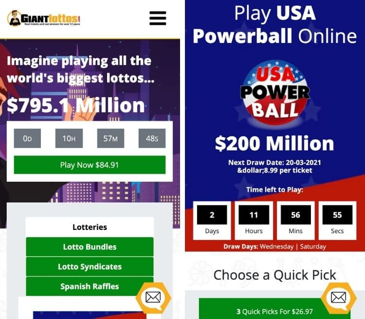 giant lotto mobile app